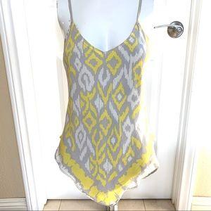 iNC pure silk asymmetrical Vneck camisole